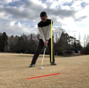 ゴルフ 左足 上がり