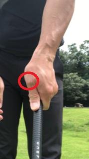 ゴルフ | 左手の親指の付け根が痛い。【グリップの握り方に問題】