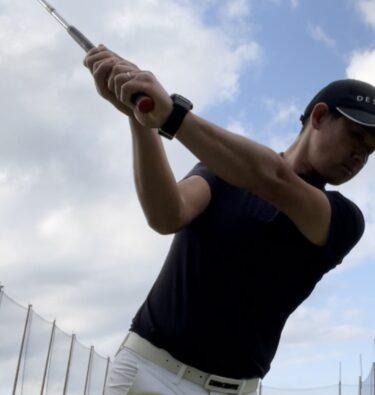 ゴルフスイングの右肘の使い方。細かく【写真図解】で解説。